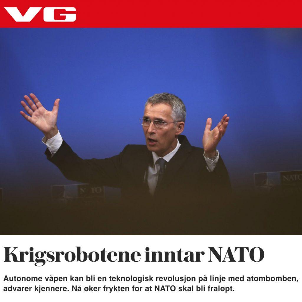 """Artikkel """"Krigsrobotene inntar NATO"""""""