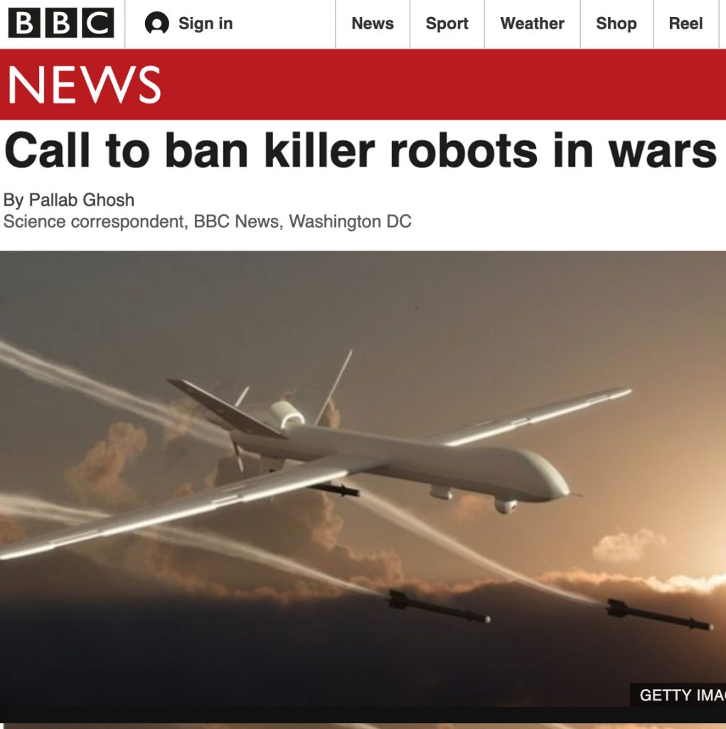 "Artikkel ""Call to ban killer robots in wars"""